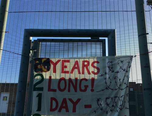 Over 150 people demonstrate to mark 24 years since Campsfield 'House' opened